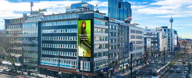 Der Mega Screen von Ströer in Düsseldorf